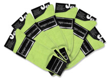 6 Pair of Biagio Solid LIME GREEN Color Men's COTTON Dress SOCKS