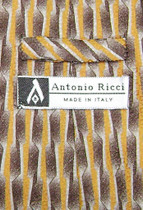 Antonio Ricci SILK NeckTie Made in ITALY Geometric Design Men's Neck Tie #5918-3