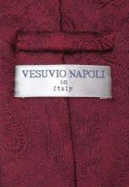 Vesuvio Napoli Burgundy Paisley NeckTie Handkerchief Mens Neck Tie Set