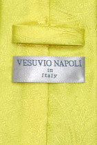 Vesuvio Napoli Yellow PAISLEY NeckTie & Handkerchief Matching Men's Neck Tie Set