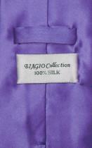 Biagio 100% SILK NeckTie Solid PURPLE Indigo Color Men's Neck Tie