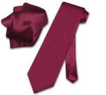 Biagio 100% SILK Solid BURGUNDY Color NeckTie & Handkerchief Men's Neck Tie Set
