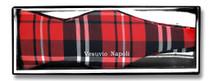 Vesuvio Napoli SELF TIE BowTie Black Red White Color PLAID Design Men's Bow Tie