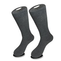 1 Pair of Biagio Solid CHARCOAL GREY Color Men's COTTON Dress SOCKS