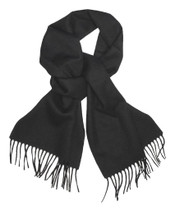 Black Color Wool Neck Scarf | Biagio Brand 100% Wool Neck Scarve