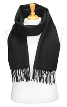 Biagio 100% Wool NECK Scarf Solid BLACK Color Scarve for Men or Women