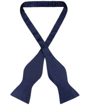 Biagio Self Tie Bow Tie Solid Navy Blue Color Mens BowTie