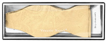 Vesuvio Napoli SELF TIE Bow Tie GOLD Color PAISLEY Design Men's BowTie