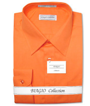 Burnt Orange Dress Shirt | Mens Cotton Burnt Orange Dress Shirt