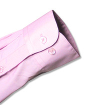 Mens Solid Lavender Purple Color Dress Shirt with Convertible Cuffs