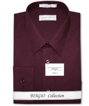 Burgundy Dress Shirt | Mens Cotton Burgundy Dress Shirt