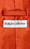 Biagio CLIP-ON NeckTie Solid BURNT ORANGE Color Men's Neck Tie