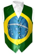 Brazilian Flag Vest   Mens Covona Brazilian Flag Vest
