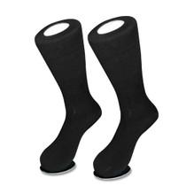 Solid Black Color Mens Socks   1 Pair of Biagio Cotton Dress Socks