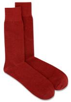Solid Maroon Color Mens Socks   6 Pair of Biagio Cotton Dress Socks