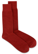 3 Pair of Biagio Solid MAROON Burgundy Solid Men's COTTON Dress SOCKS