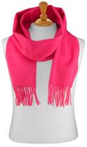 Hot Pink Fuchsia Wool Neck Scarf | Biagio 100% Wool Neck Scarve