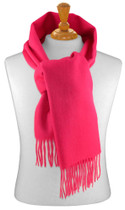 Biagio 100% Wool NECK Scarf Solid Hot Pink Fuchsia Color Scarve for Men or Women