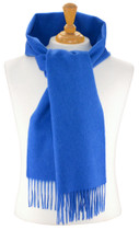 Biagio 100% Wool NECK Scarf Solid Royal Blue Color Scarve for Men or Women