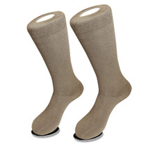 6 Pair of Biagio Solid TAUPE LIGHT BROWN Color Men's COTTON Dress SOCKS