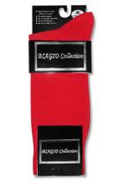 Red Cotton Dress Socks | 1 Pair Mens Biagio Red Cotton Dress Socks