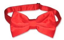 Mens Dress Vest & BowTie Solid Red Color Bow Tie Set