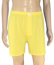 Biagio Mens Solid Light Gold Color BOXER 100% Knit Cotton Shorts