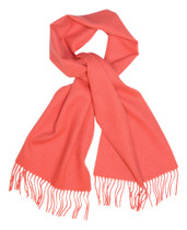 Coral Pink Wool Neck Scarf | Biagio Brand 100% Wool Neck Scarve