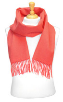 Coral Pink Wool Neck Scarf   Biagio Brand 100% Wool Neck Scarve
