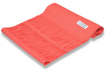 Biagio 100% Wool NECK Scarf Solid Coral Pink Color Scarve for Men or Women