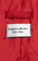 Biagio Men's SILK Dress Vest & NeckTie Solid ROSE RED Color Neck Tie Set