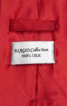 Biagio Men's SILK Dress Vest & NeckTie Solid ROSE RED Color Neck Tie Set