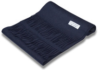 Biagio 100% Wool NECK Scarf Solid Navy Blue Color Scarve for Men or Women