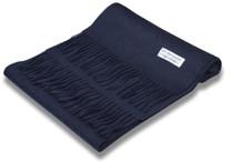 Navy Blue Wool Neck Scarf | Biagio Brand 100% Wool Neck Scarve