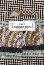 Antonio Ricci SILK NeckTie Made in ITALY Geometric Design Men's Neck Tie #3107-4
