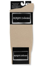 Solid Beige Color Mens Socks | 1 Pair of Biagio Cotton Dress Socks