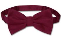 Vesuvio Napoli BowTie Solid Burgundy Mens Bow Tie Tux or Suit