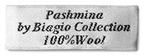 Biagio 100% Wool Pashmina Solid Scarf Chocolate Brown Color Women's Shawl Wrap