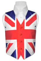 Boy's British Flag Dress Vest size 6