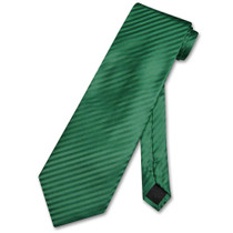 Mens Dress Vest NeckTie Emerald Green Vertical Stripe Neck Tie Set