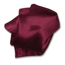 Biagio Men's SILK Dress Vest & Bow Tie Solid BURGUNDY Color BowTie Set
