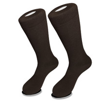 1 Pair of Biagio Solid CHOCOLATE BROWN Color Men's COTTON Dress SOCKS