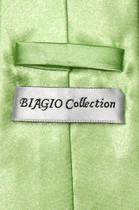 Biagio CLIP-ON NeckTie Solid LIME GREEN Color Men's Neck Tie