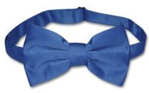 Mens Dress Vest & BowTie Solid Royal Blue Color Bow Tie Set