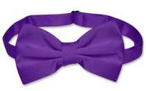 Mens Dress Vest & BowTie Solid Purple Indigo Color Bow Tie Set