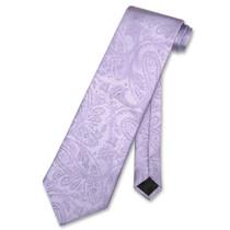Vesuvio Napoli NeckTie LAVENDER Purple Color Paisley Design Men's Neck Tie