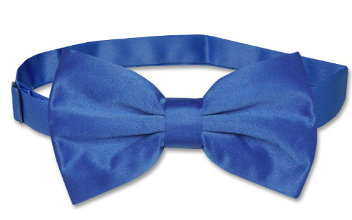 Vesuvio Napoli BowTie Solid Royal Blue Color Mens Bow Tie