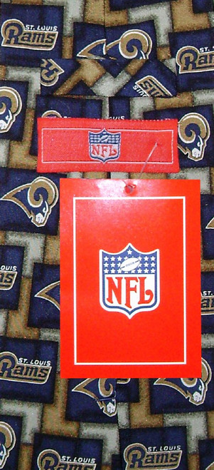 ST. LOUIS RAMS NeckTie NFL Football Silk Pattern Mens Neck Tie