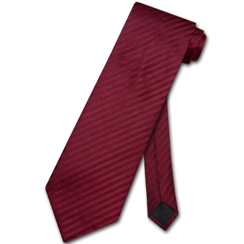 Vesuvio Napoli NeckTie Burgundy Stripe Vertical Stripe Mens Neck Tie