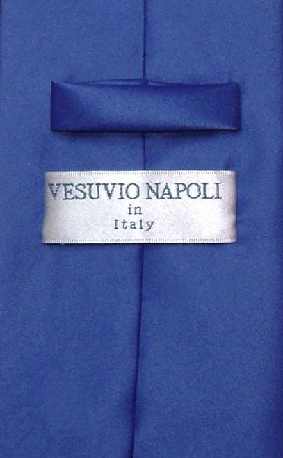 Royal Blue Mens NeckTie | Vesuvio Napoli Solid Color Mens Neck Tie